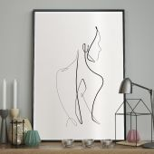 DecoKing - Plakat ścienny - Sketchline - Naked