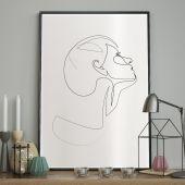DecoKing - Plakat ścienny - Sketchline – Face