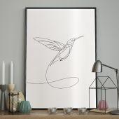 DecoKing - Plakat ścienny - Sketchline - Hummingbird