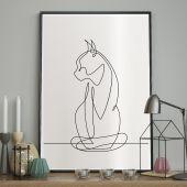 DecoKing - Plakat ścienny - Sketchline - Cat