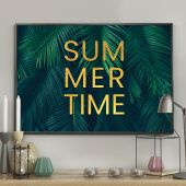 DecoKing - Plakat ścienny – Palm Leaves - Summertime