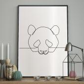 DecoKing - Plakat ścienny - Sketchline – Panda