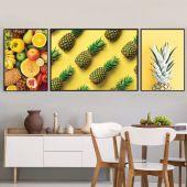 DecoKing - Zestaw plakatów ściennych - Fruits - Yellow