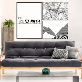 DecoKing - Zestaw plakatów ściennych - Monochromatic