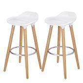 AmeliaHome - Nowoczesne krzesła do jadalni 2 sztuki Białe VERONA