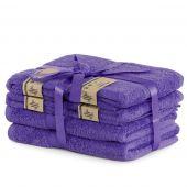 DecoKing - Ręcznik kąpielowy Bambusowy Gładki Fioletowy BAMBY