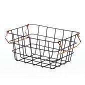 DecoKing - Minimalistyczny Koszyk Metalowy Duży Czarny HARPER