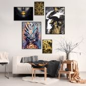 DecoKing - Zestaw plakatów ściennych - Golden