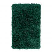 Dywan dekoracyjny non-slip średnie włosie Puszysty Prostokąt do salonu i jadalni Butelkowa zieleń GLAMOUR