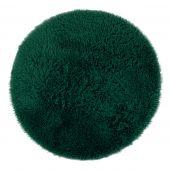 Dywan dekoracyjny non-slip średnie włosie Puszysty Okrągły do salonu i jadalni Butelkowa Zieleń GLAMOUR