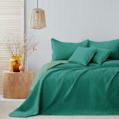 Narzuta na łóżko Pikowana Dwustronna Zielona SOFTA