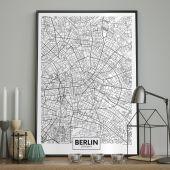 DecoKing - Plakat ścienny – Map - Berlin