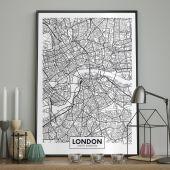 DecoKing - Plakat ścienny – Map – London