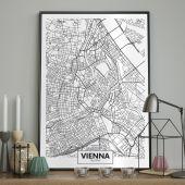 DecoKing - Plakat ścienny – Map - Vienna