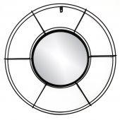 Lustro ścienne Okrągłe Wiszące Czarne Nowoczesne CIRCLE