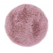 Dywan Shaggy z długim włosiem do łazienki Okrągły Miękki Różowy FLUFFY