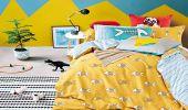 DecoKing – Pościel Bawełniana Żółta Diamond FISHY WZORY DZIECIĘCE 135x200 + 80x80*1 cm