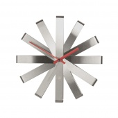 Umbra - Zegar ścienny Srebrny RIBBON