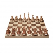 Umbra - Tradycyjny Zestaw do gry w szachy Ciemne Drewno BUDDY