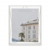 Umbra - Industrialna ramka na zdjęcia 20x25 cm stojąca / wisząca Biała PRISMA