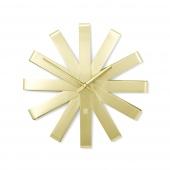 Umbra - Zegar ścienny Złoty RIBBON