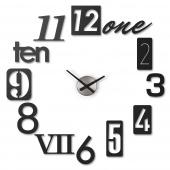 Umbra - Zegar ścienny Czarny NUMBRA