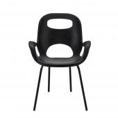 Umbra - Minimalistyczne Krzesło Czarne OH