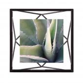 Umbra - Industrialna ramka na zdjęcia 10x10 cm stojąca / wisząca Czarna PRISMA