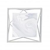 Umbra - Industrialna ramka na zdjęcia 10x10 cm stojąca / wisząca Srebrna PRISMA