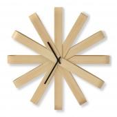 Umbra - Zegar ścienny Drewniany RIBBON