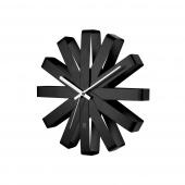 Umbra - Zegar ścienny Czarny RIBBON
