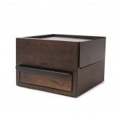 Umbra - Stylowe Pudełko na biżuterię Ciemnobrązowe Małe STOWIT