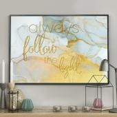 DecoKing - Plakat ścienny - Marble - Gold
