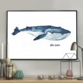 DecoKing - Plakat ścienny - Blue Whale