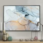 DecoKing – Plakat ścienny – Marble - Blue - Home