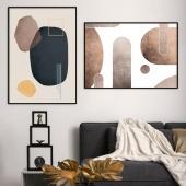 DecoKing - Zestaw plakatów ściennych - Stones