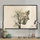 DecoKing - Plakat ścienny - Girl Silhouette -Tree