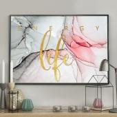 DecoKing - Plakat ścienny – Marble – Pink+Gold – Life