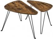 Industrialny stolik kawowy Dwuczęściowy zestaw do salonu VIDAR
