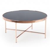 Okrągły stolik kawowy 82 cm Glamour Miedziany EMRE