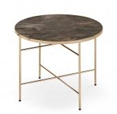 Stylowy stolik kawowy do salonu Okrągły Szklany blat EVALD