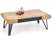 Industrialny stolik kawowy do salonu Ukryta szuflada ZEFI