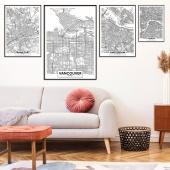 DecoKing - Zestaw plakatów ściennych - Maps
