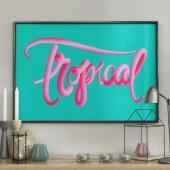 DecoKing - Plakat ścienny – Bubblegum Tropical