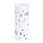AmeliaHome - Stojak na parasole Biały RAINY DAY