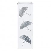 AmeliaHome - Stojak na parasole Biały LITTLE UMBRELLAS