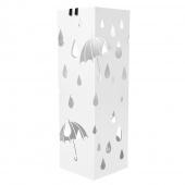 AmeliaHome - Stojak na parasole Biały RAIN
