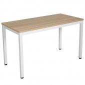 AmeliaHome - Minimalistyczne biurko Biało Brązowe MINIMAL