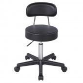AmeliaHome - Stylowe krzesło obrotowe Czarne BARI