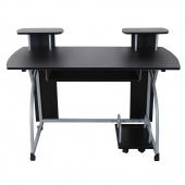 AmeliaHome - Minimalistyczne biurko Czarne HOME OFFICE